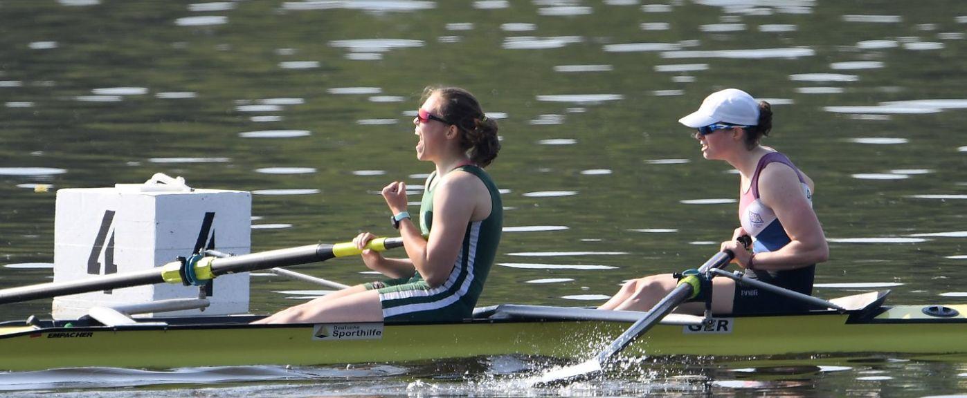 Alexandra Höffgen, Schlagfrau vom Neusser RV gewinnt Zweier ohne